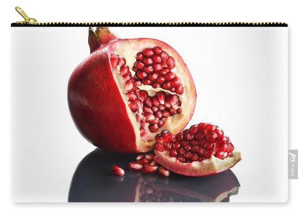 Pomegranate Opened Up On Reflective Surface Carry-all Pouch
