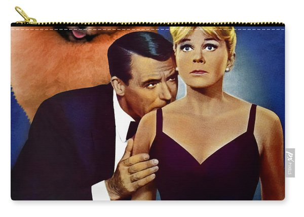 Pomeranian Art Canvas Print - That Touch Of Mink Movie Poster Carry-all Pouch