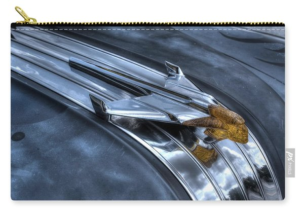 Carry-all Pouch featuring the photograph Pontiac Hood Ornament by Michael Colgate
