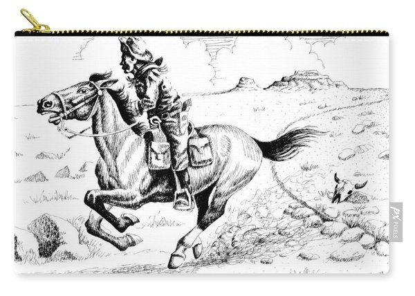 Pony Express Rider Carry-all Pouch