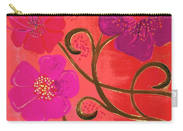 Pop Spring Purple Flowers Carry-all Pouch