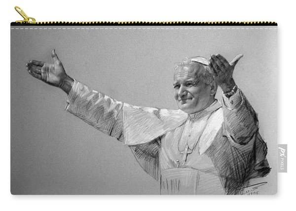 Pope John Paul II Bw Carry-all Pouch