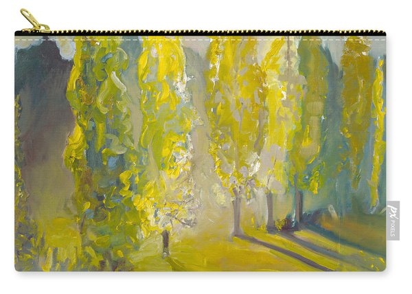 Poplars In The Morning Carry-all Pouch