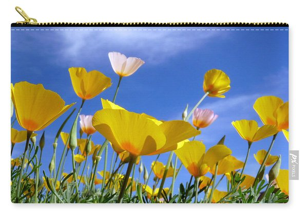 Poppies And Blue Arizona Sky Carry-all Pouch