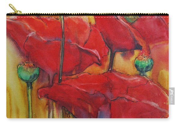 Poppies IIi Carry-all Pouch