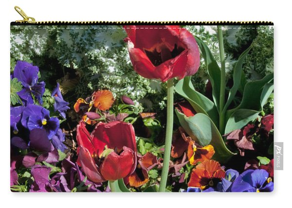 Carry-all Pouch featuring the photograph Poppies by Mae Wertz