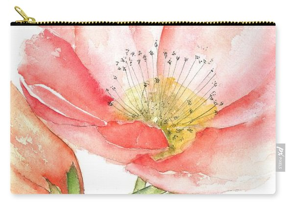 Poppy Bloom Carry-all Pouch