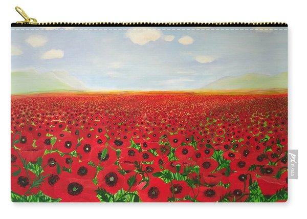 Poppy Fields Carry-all Pouch