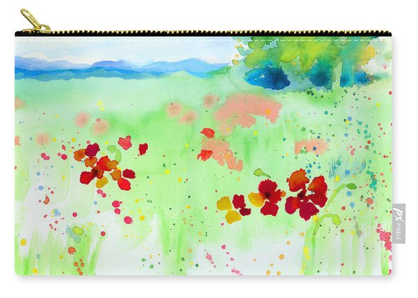 Poppy Passion Carry-all Pouch