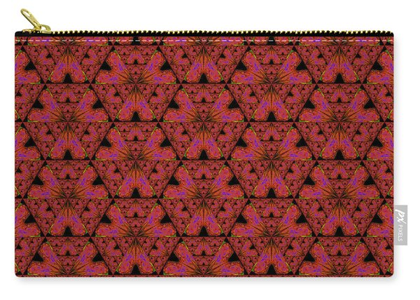 Poppy Sierpinski Triangle Fractal Carry-all Pouch