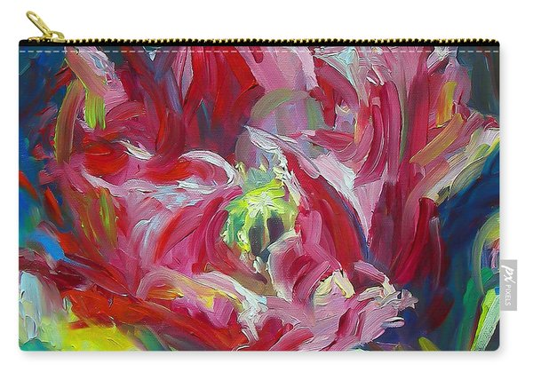 Carry-all Pouch featuring the painting Poppy's Secret  by Talya Johnson