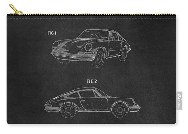 Porsche 911 Carrera 1964 Patent Art  Carry-all Pouch