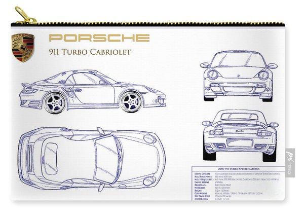 Porsche 911 Turbo Blueprint Carry-all Pouch
