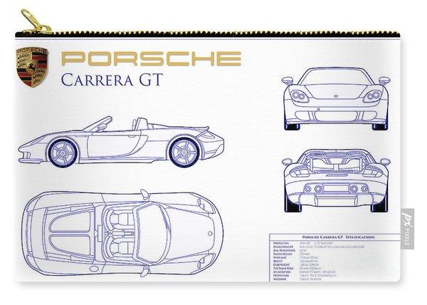 Porsche Carrera Gt Blueprint Carry-all Pouch