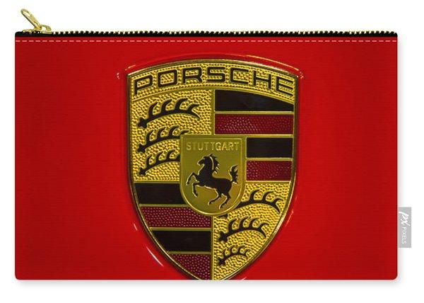 Porsche Emblem Red Hood Carry-all Pouch
