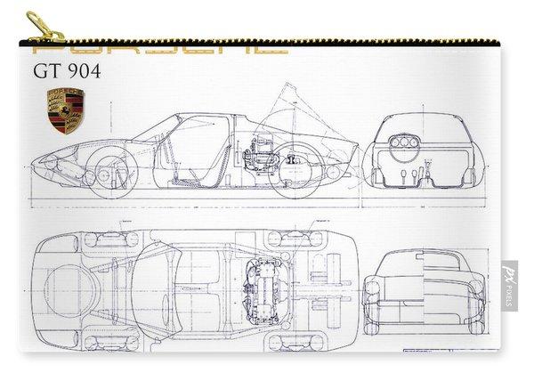 Porsche Gt 904 Blueprint Carry-all Pouch