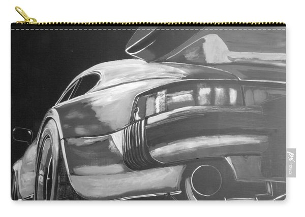 Carry-all Pouch featuring the painting Porsche Turbo by Richard Le Page