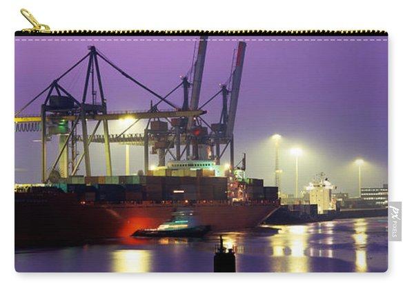 Port, Night, Illuminated, Hamburg Carry-all Pouch