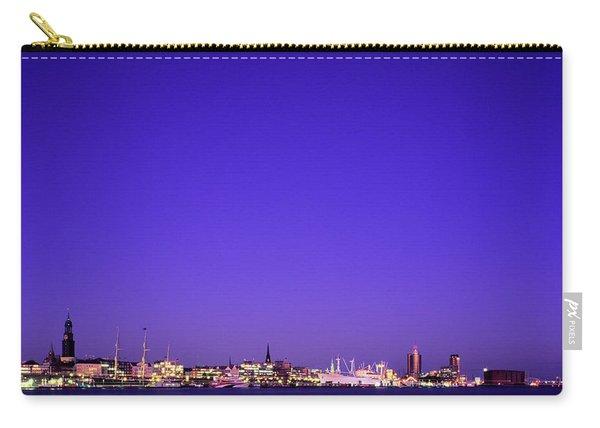 Port Of Hamburg, Germany City Skyline Carry-all Pouch