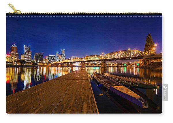 Carry-all Pouch featuring the photograph Portland Under The Stars by Dustin  LeFevre