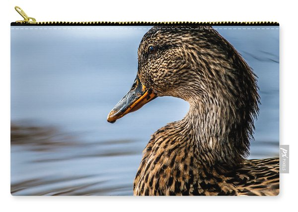 Portrait Of A Duck Carry-all Pouch