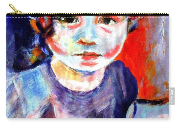 Portrait Of A Little Girl Carry-all Pouch
