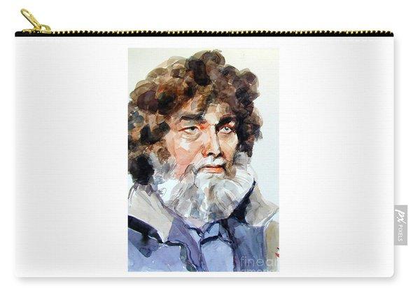 Watercolor Portrait Of A Sailor Carry-all Pouch