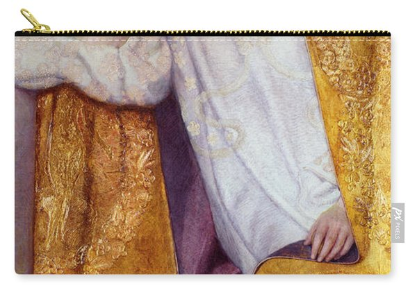 Portrait Of A Woman In A Golden Dress Carry-all Pouch