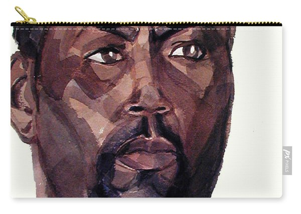 Watercolor Portrait Of An Athlete Carry-all Pouch