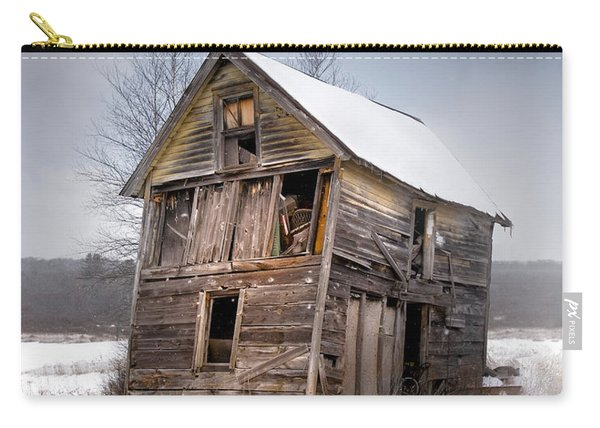 Portrait Of An Old Shack - Agriculural Buildings And Barns Carry-all Pouch
