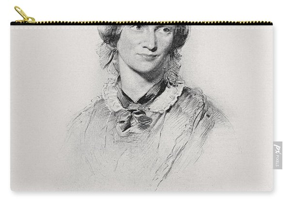 Portrait Of Charlotte Bronte, Engraved Carry-all Pouch