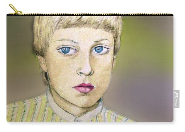 Portrait Of Justin Age 9 Carry-all Pouch