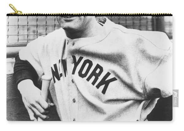 Portrait Of Lou Gehrig Carry-all Pouch