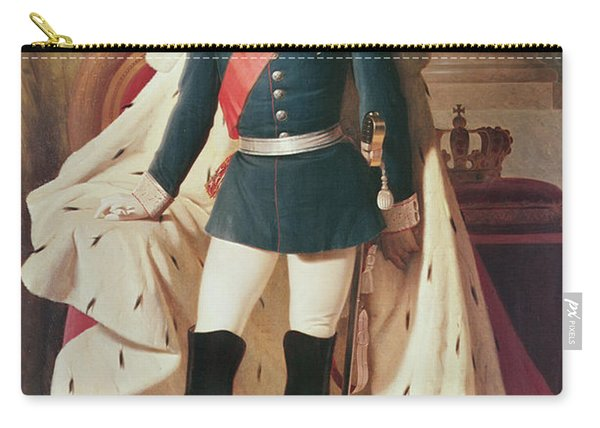 Portrait Of Ludwig II 1845-86of Bavaria In Uniform, 1865 Oil On Canvas Carry-all Pouch
