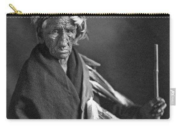 Portrait Of Old Wrinkle Meat Carry-all Pouch