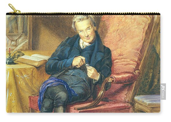 Portrait Of William Wilberforce 1759-1833 1833 Wc On Paper Carry-all Pouch