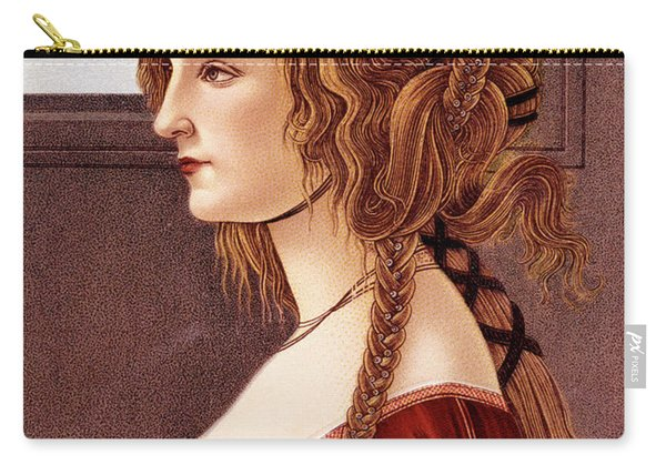 Portrait Of Young Woman By Botticelli Carry-all Pouch