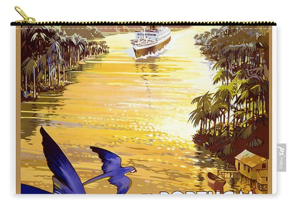 Portugal Vintage Travel Poster Carry-all Pouch