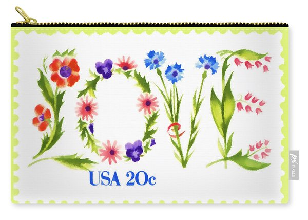 Postage Stamp Love Carry-all Pouch