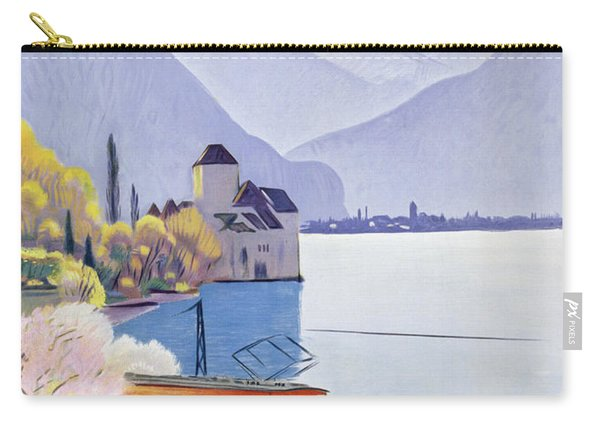 Poster Advertising Rail Travel Around Lake Geneva Carry-all Pouch