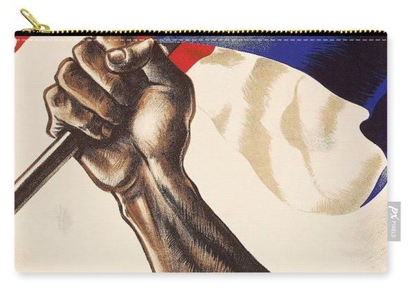 Poster For Liberation Of France From World War II 1944 Carry-all Pouch