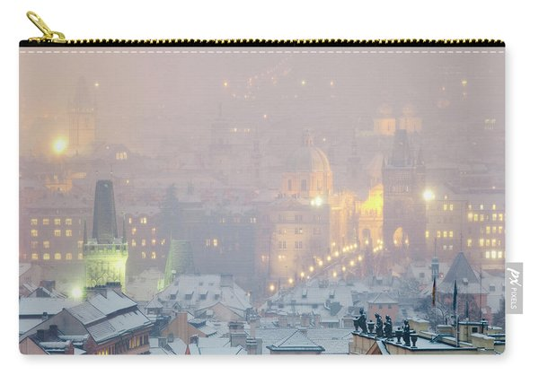 Prague - Charles Bridge And Spires Carry-all Pouch