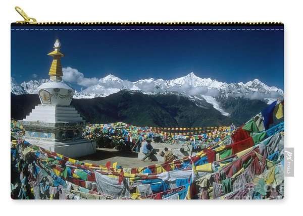 Prayer Flags In The Himalayan Mountains Carry-all Pouch