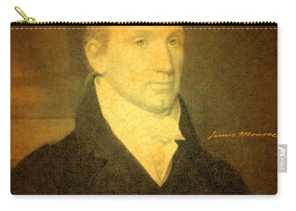President James Monroe Portrait And Signature Carry-all Pouch
