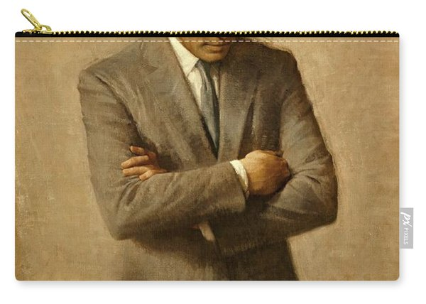 President John F. Kennedy Official Portrait By Aaron Shikler Carry-all Pouch