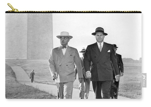 President Truman On A Walk Carry-all Pouch