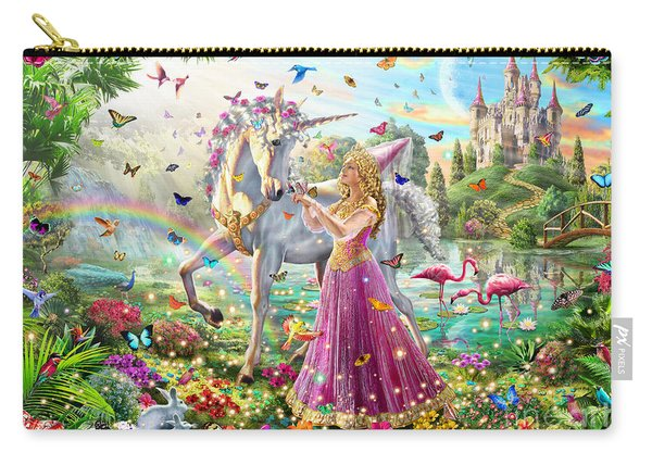 Princess And The Unicorn Carry-all Pouch