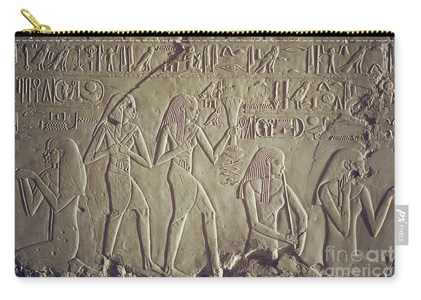 Private Tomb Of Kheruef Kheruf Cheriuf Tt 192 Asasif-stock Image-fine Art Print-valley Of The Kings Carry-all Pouch
