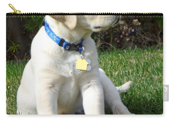 Proud Yellow Labrador Puppy Carry-all Pouch