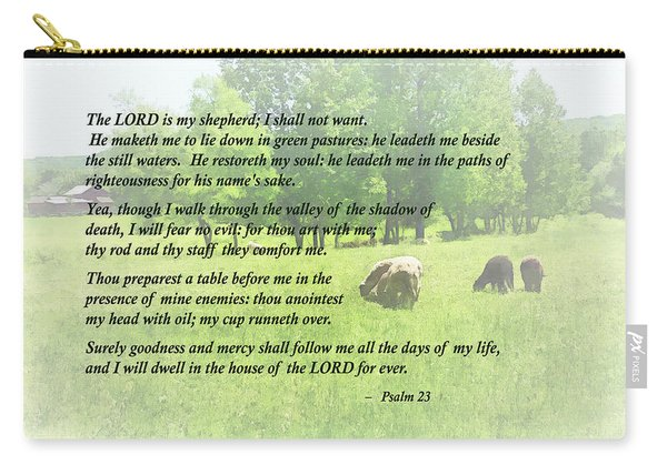Psalm 23 The Lord Is My Shepherd Carry-all Pouch